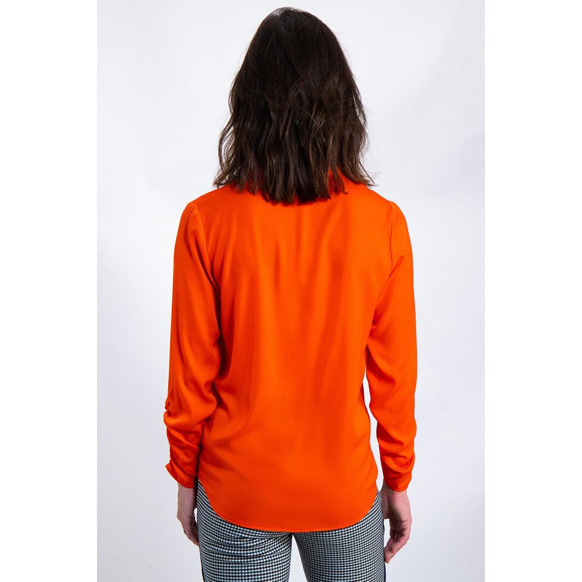 blouse met wrinkle effect j90230 garcia blouse 1220 red orange