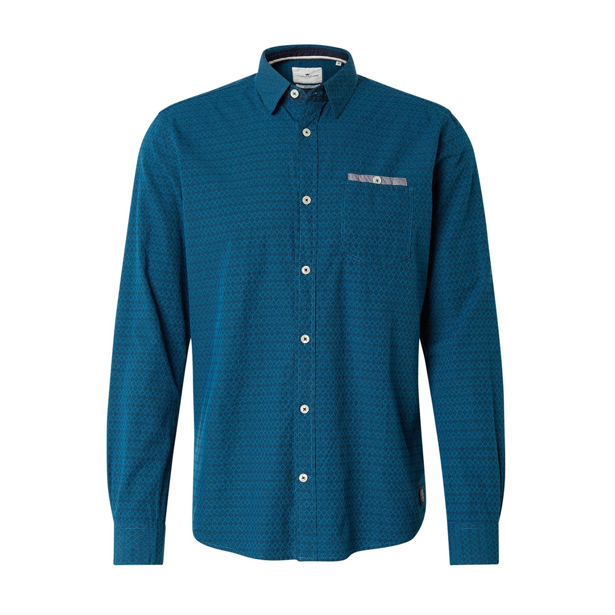 overhemd met patroon 1014475xx10 tom tailor overhemd 20174