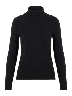 pchaly roll neck ls top 17098590 pieces t-shirt black