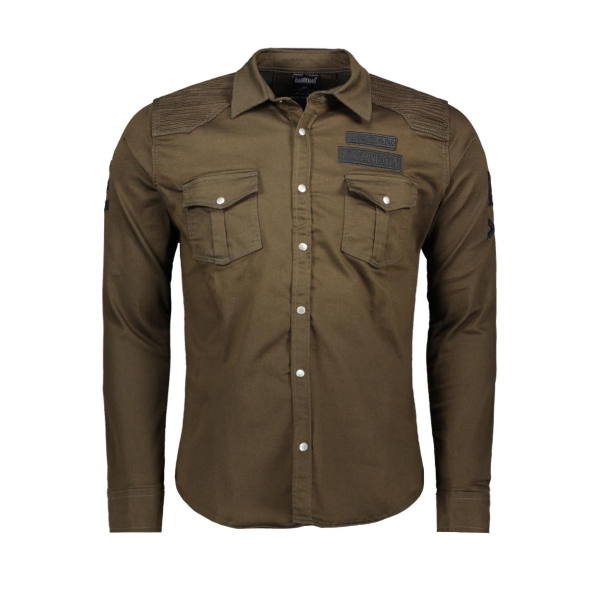 32579 gabbiano overhemd bruin