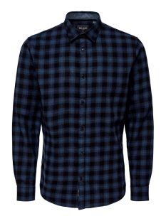 Only & Sons Overhemd ONSEMIL LS FLANNEL CHECK SHIRT 22014533 Insignia Blue