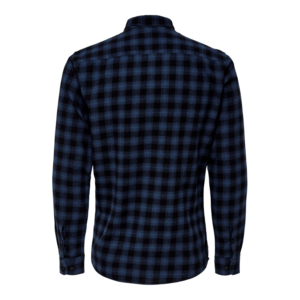 onsemil ls flannel check shirt 22014533 only & sons overhemd insignia blue