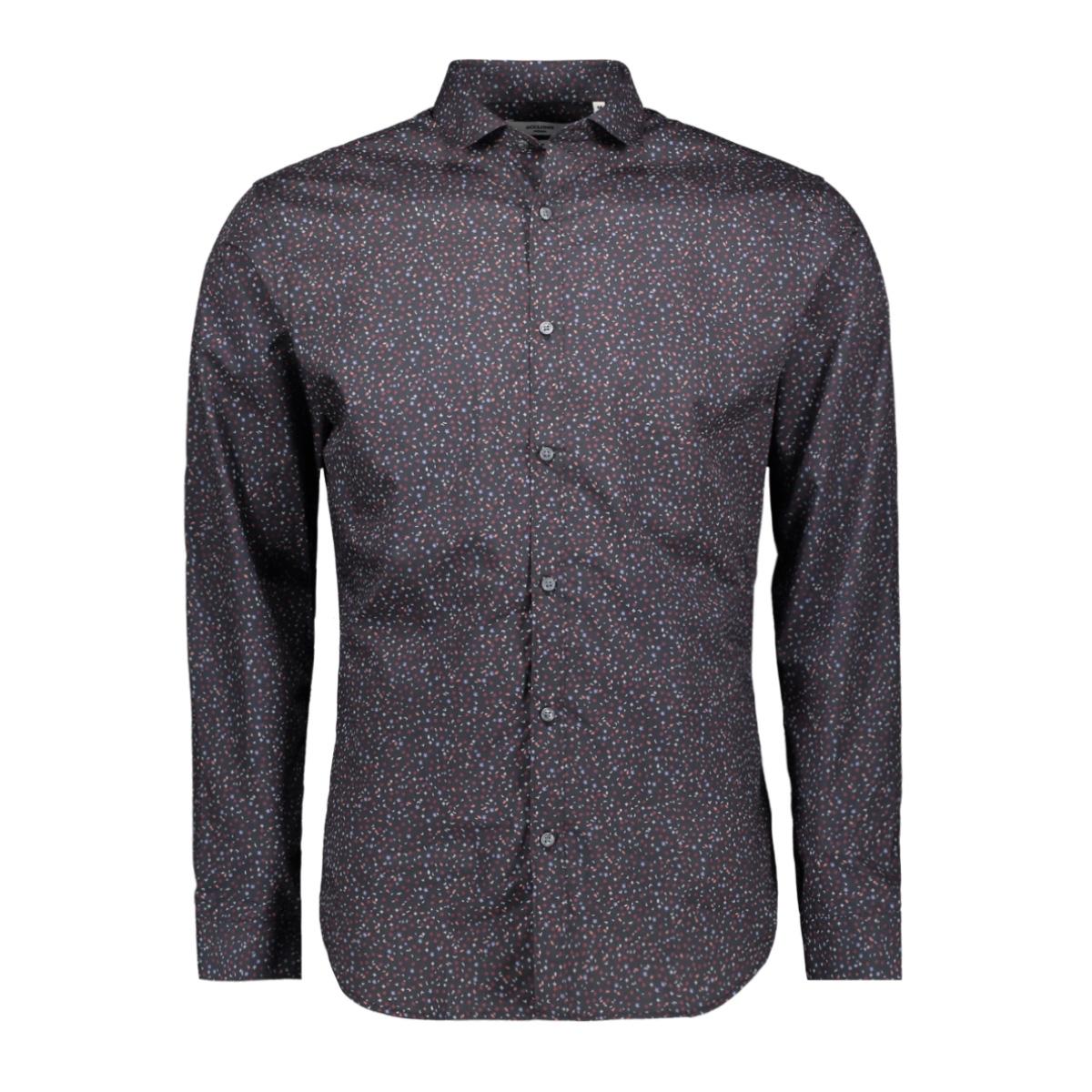 jprblackburn shirt l/s w19 12162111 jack & jones overhemd black/slim fit