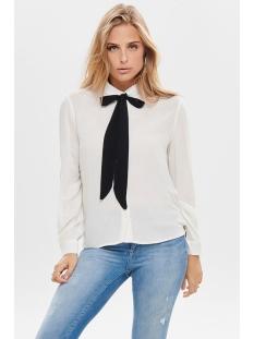 onljoyce l/s bow shirt wvn 15188466 only blouse cloud dancer