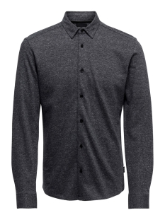Only & Sons Overhemd ONSGABRIEL LS KNITTED MELANGE SHIRT 22015055 Dark Navy