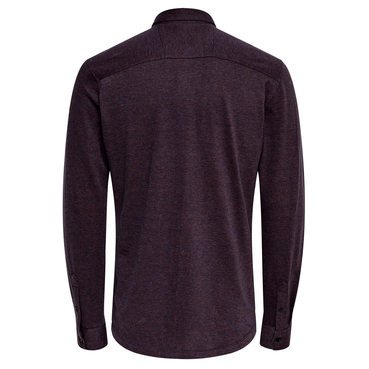 onsgabriel ls knitted melange shirt 22015055 only & sons overhemd pompeian red