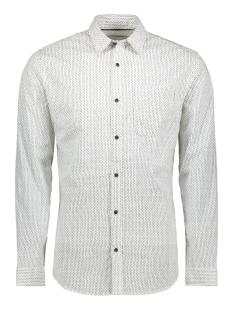 Jack & Jones Overhemd JCOGLADSTONE  SHIRT LS ONE POCKET 12161661 White/SLIM BLA
