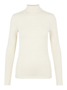 pcbillo ls rollneck lurex stripes t 17100254 pieces t-shirt cloud dancer/gold lurex