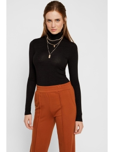 pcbillo ls rollneck lurex stripes t 17100254 pieces t-shirt black/black lurex