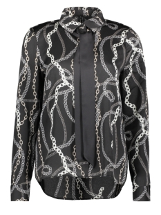 Vero Moda Blouse VMCAILEY L/S BOW SHIRT EXP 10226982 Black/CHAIN