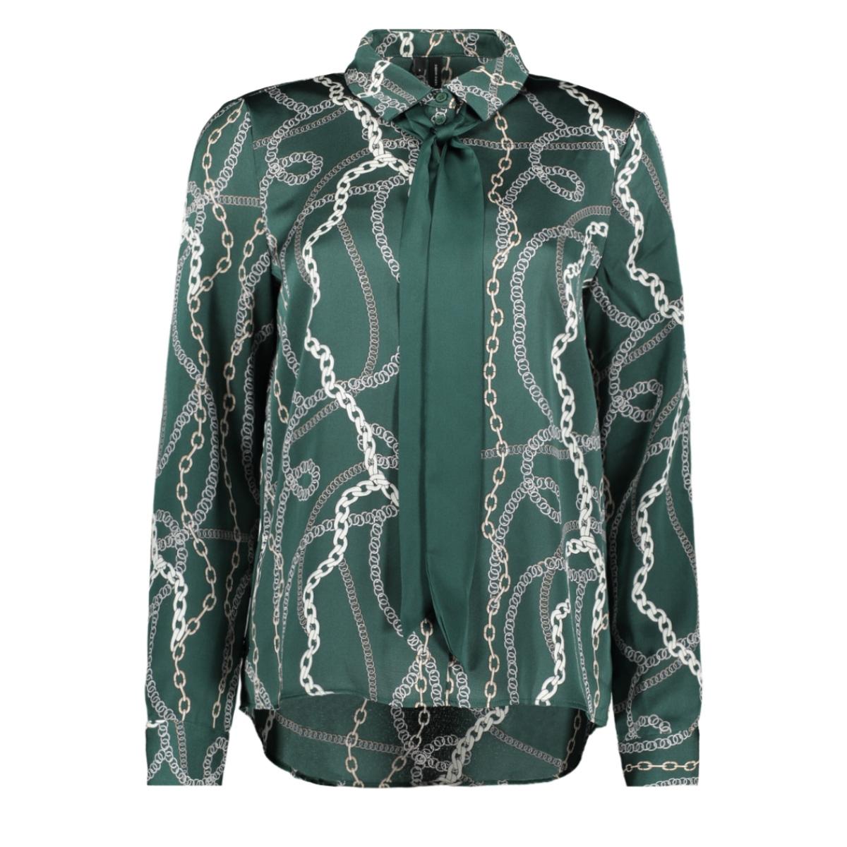 vmcailey l/s bow shirt exp 10226982 vero moda blouse ponderosa pine/chain