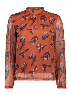 Pieces Blouse PCHENNI LS TOP 17098733 Picante/LEAVES