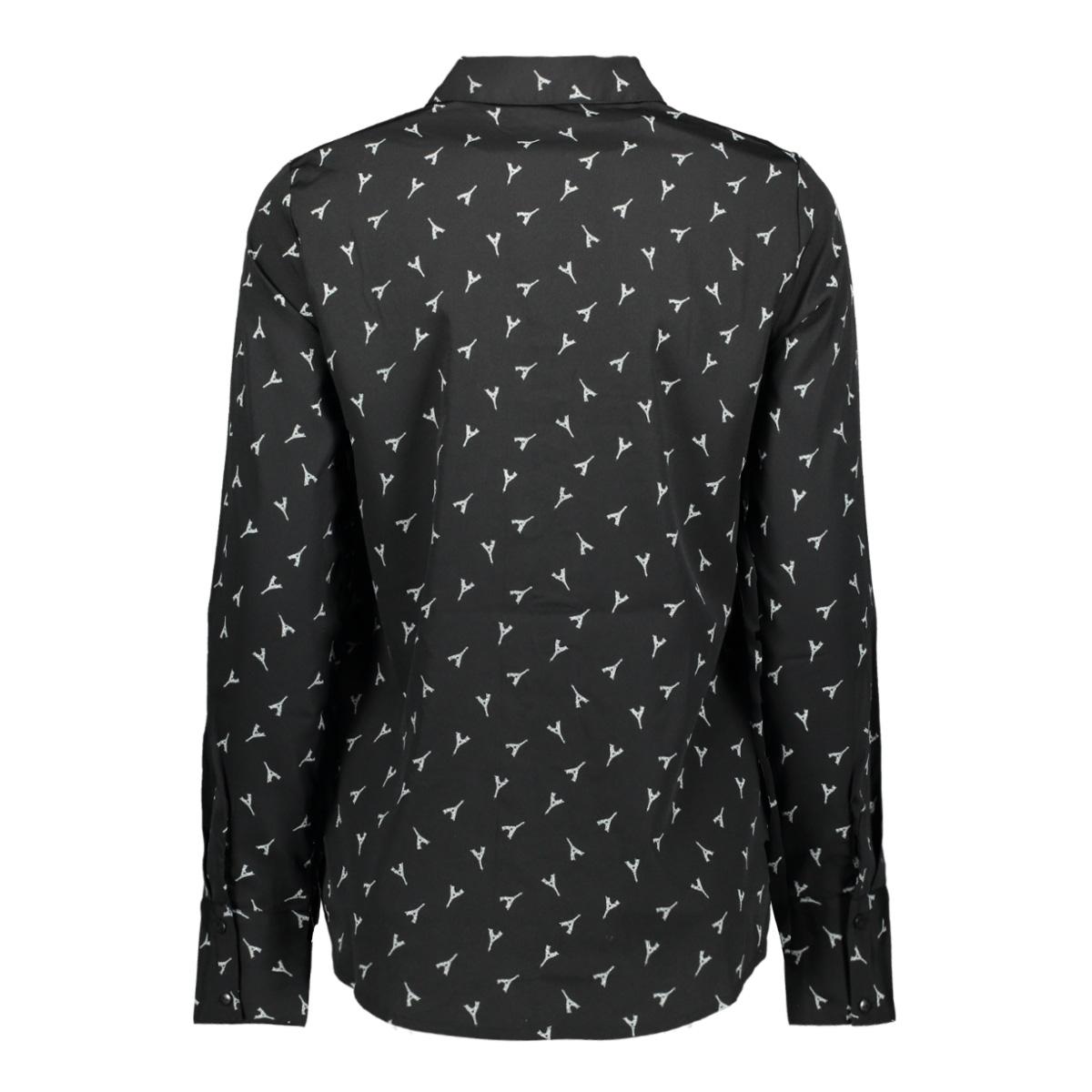 vmliem ls shirt wvn 10223006 vero moda blouse black/liem-black