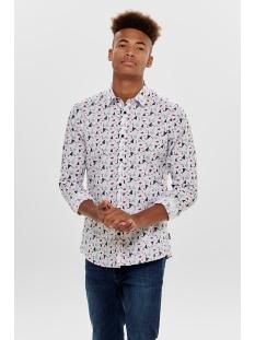Only & Sons Overhemd onsELHAM LS X-MAS AOP SHIRT 22014547 White