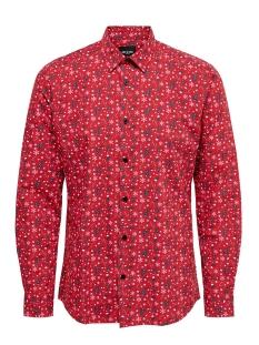 Jack & Jones Overhemd onsELHAM LS X-MAS AOP SHIRT 22014547 Pompeian Red