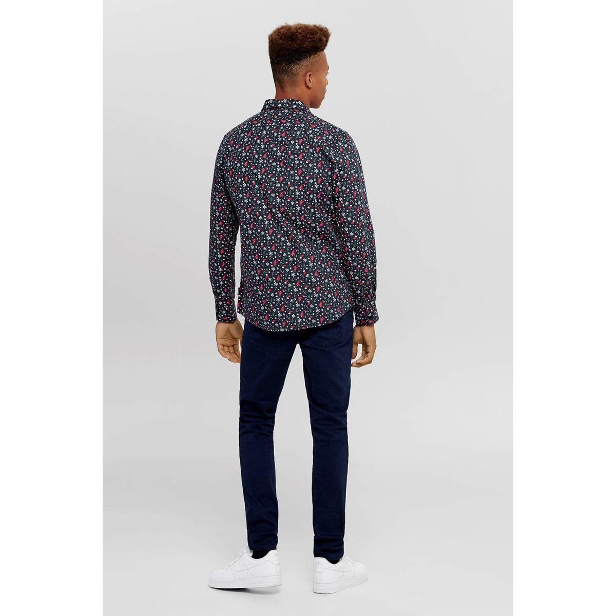 onselham ls x-mas aop shirt 22014547 only & sons overhemd blue nights
