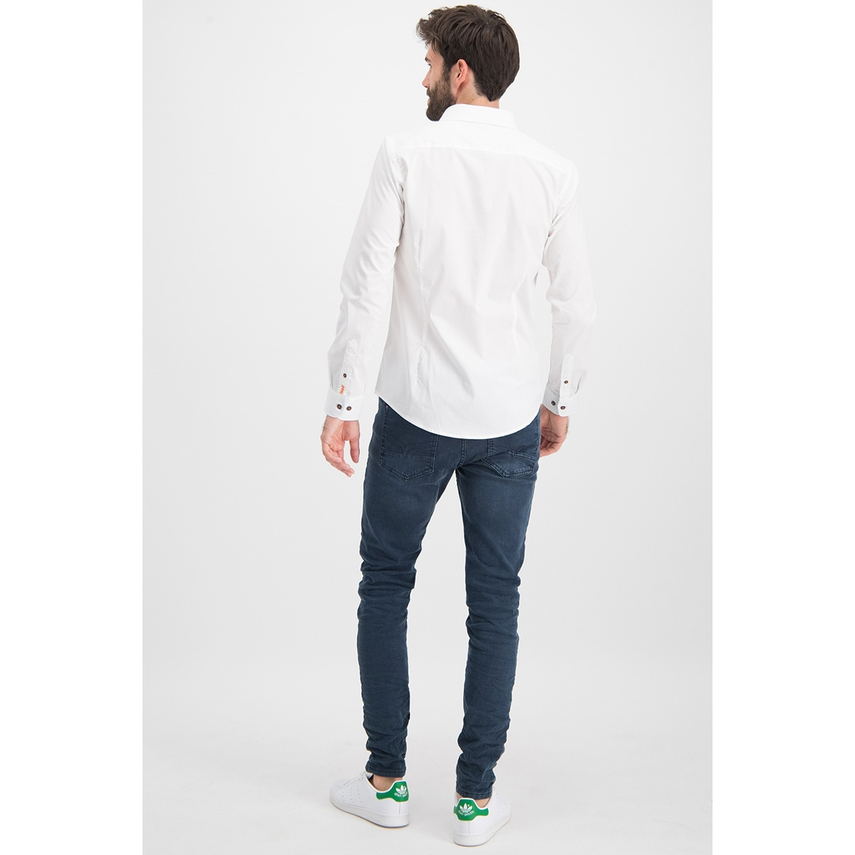 shirt solid stretch me 0103 haze & finn overhemd white