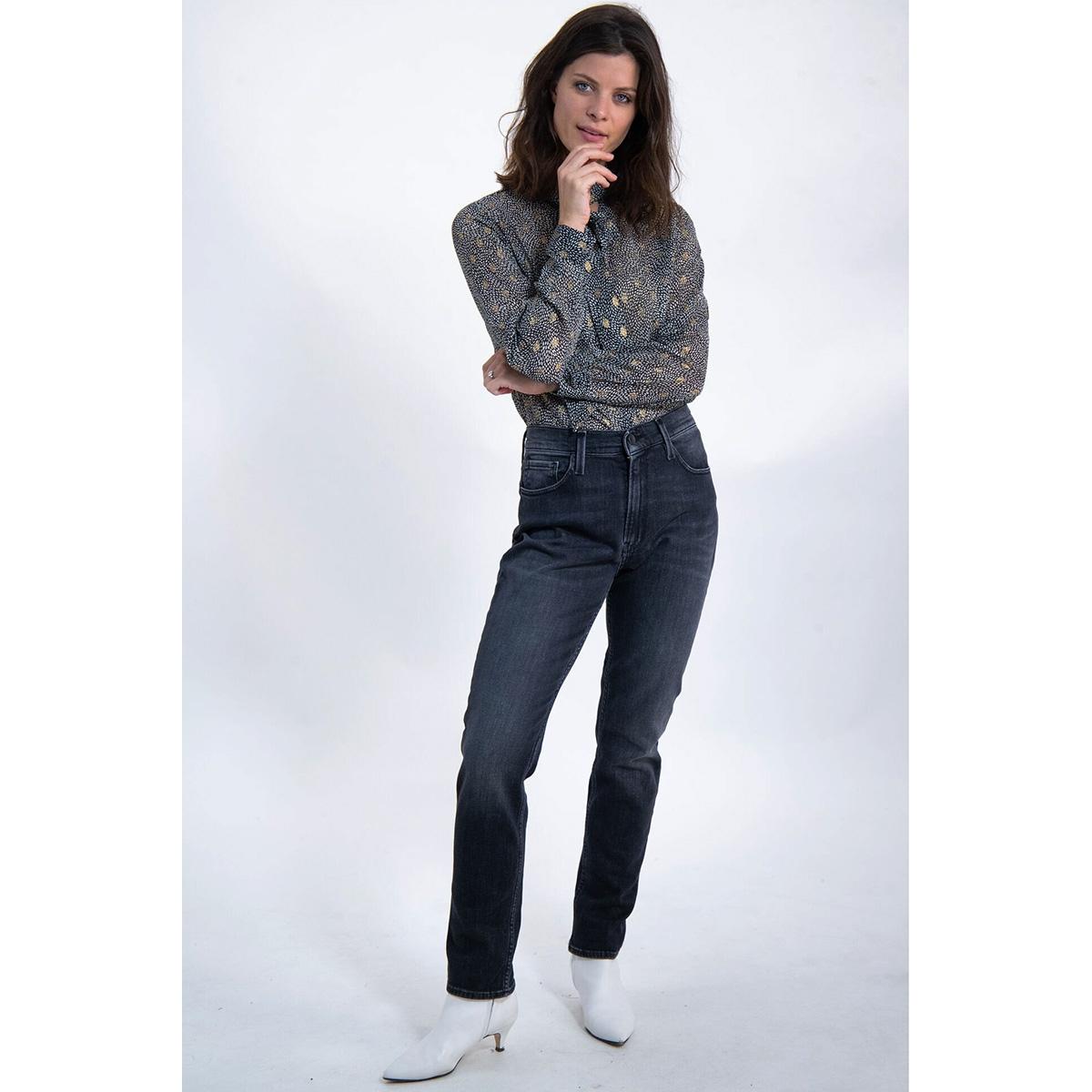 blouse met dubbele allover print ge901002 garcia blouse 60 black