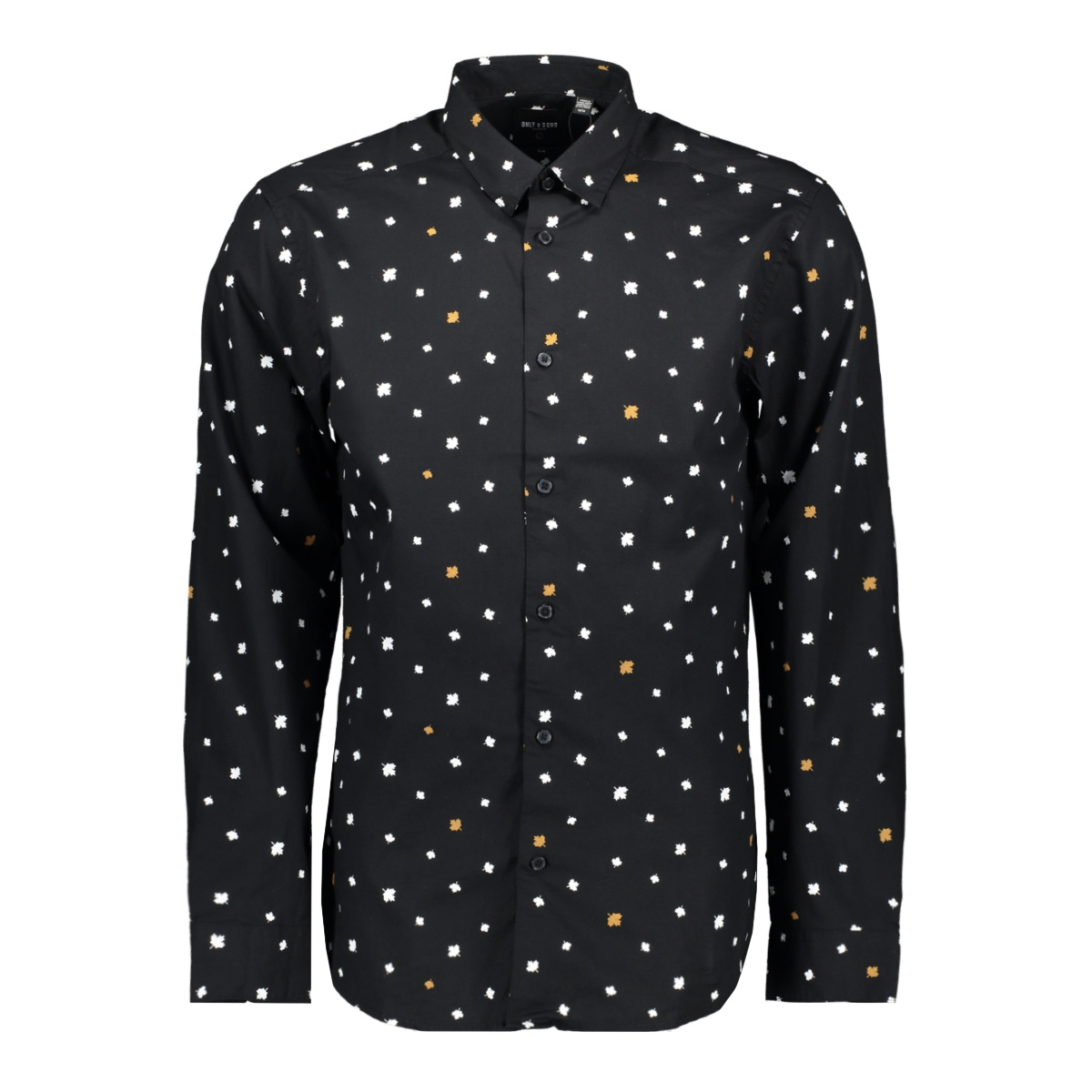 onspoplin ls aop shirt vd 22013667 only & sons overhemd black