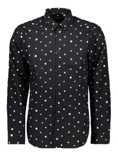 Only & Sons Overhemd onsPOPLIN LS AOP SHIRT VD 22013667 Black