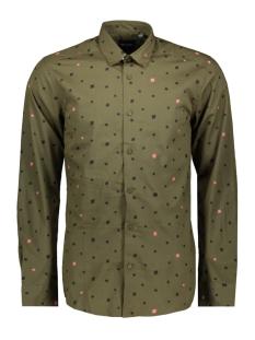 Only & Sons Overhemd onsPOPLIN LS AOP SHIRT VD 22013667 Olive Night