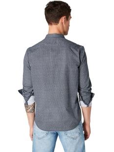 overhemd met all over print 1014650xx12 tom tailor overhemd 20383