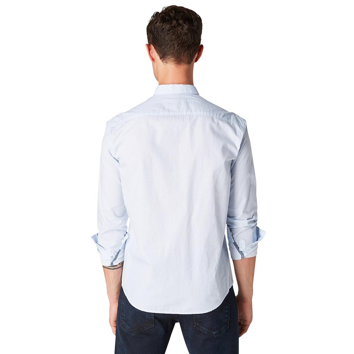 overhemd met all over print 1014650xx12 tom tailor overhemd 20384