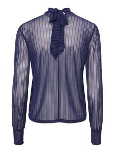 pcjette ls glitter t-neck top camp 17100102 pieces t-shirt night sky/silver lurex