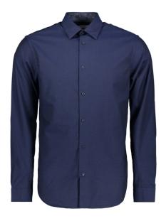 jprmason detail shirt l/s 12162279 jack & jones overhemd dark navy/slim fit