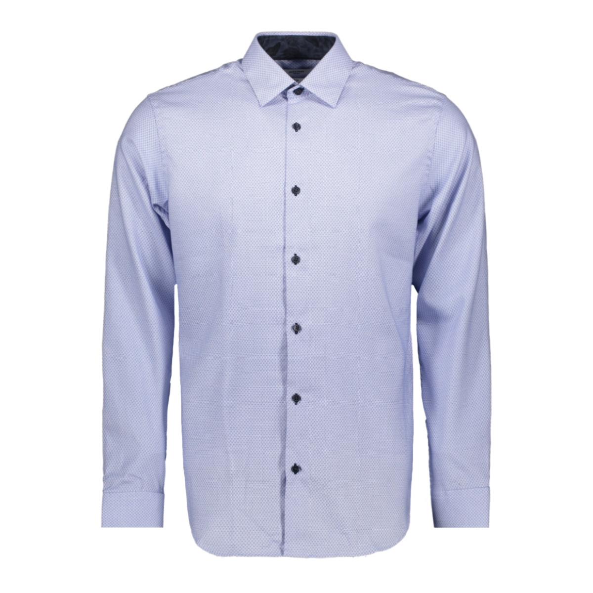 jprmason detail shirt l/s 12162279 jack & jones overhemd cashmere blue/slimfit