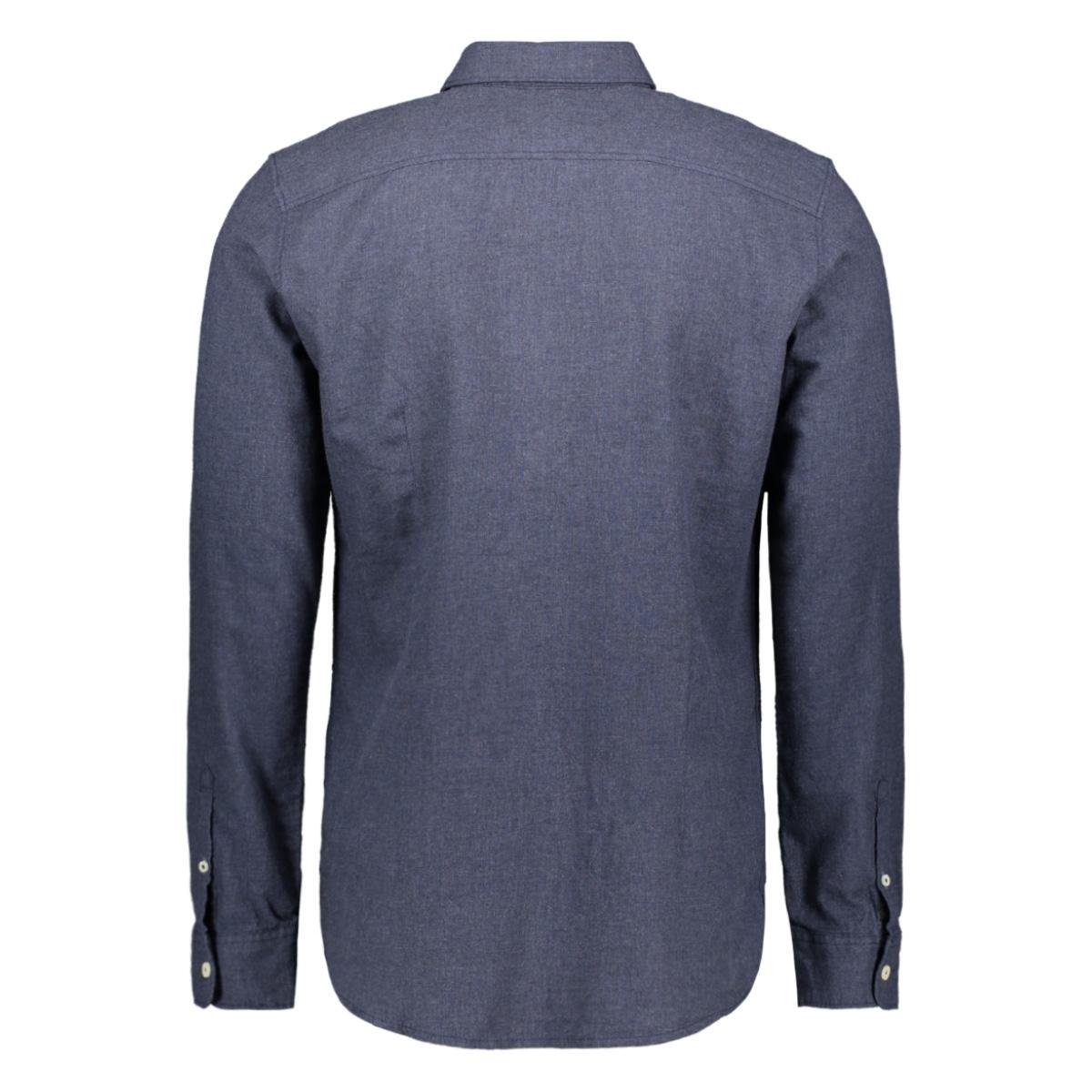 overhemd in melange look 1015542xx10 tom tailor overhemd 20797