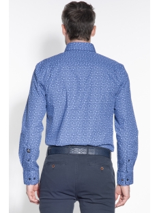 classic casual shirt lm 050115 campbell overhemd 318 lichtblauw print