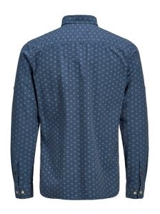 jprwesley mix shirt l/s one pocket 12162061 jack & jones overhemd vintage indigo