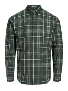 Jack & Jones Overhemd JPRFOCUS CHECK SHIRT L/S 12162325 Darkest Spruce/SLIM