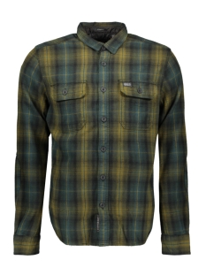 merchant milled l s shirt m4000011a superdry overhemd green check