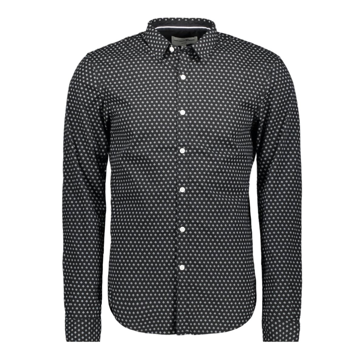 overhemd met grafische print 1015484xx12 tom tailor overhemd 20885