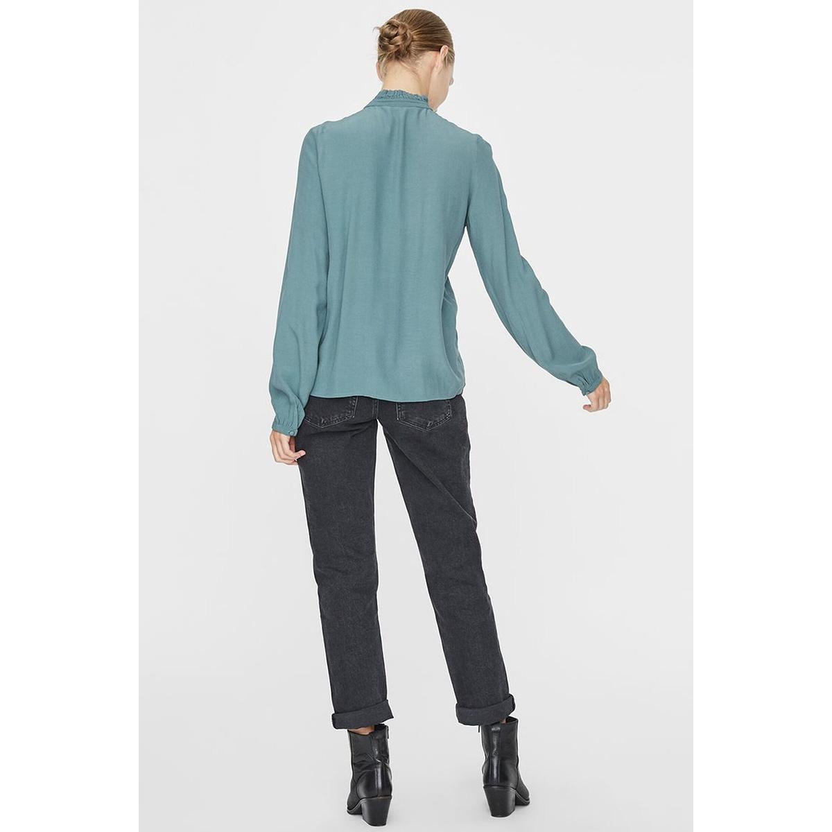 vmeva ls shirt wvn 10222188 vero moda blouse north atlantic/solid