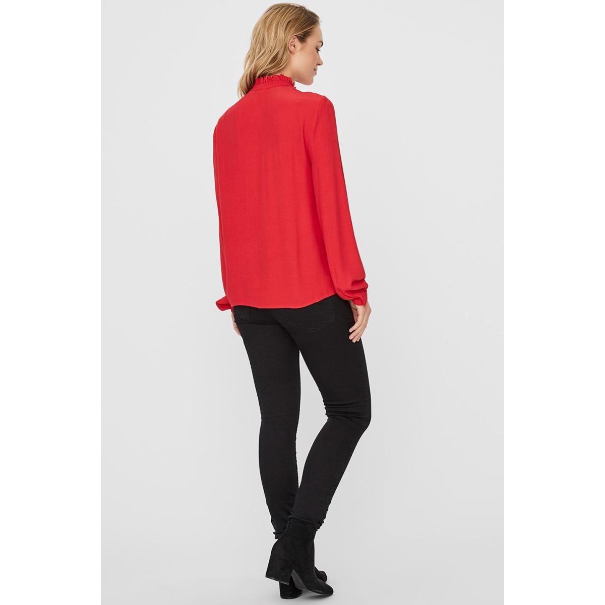 vmeva ls shirt wvn 10222188 vero moda blouse chinese red/solid