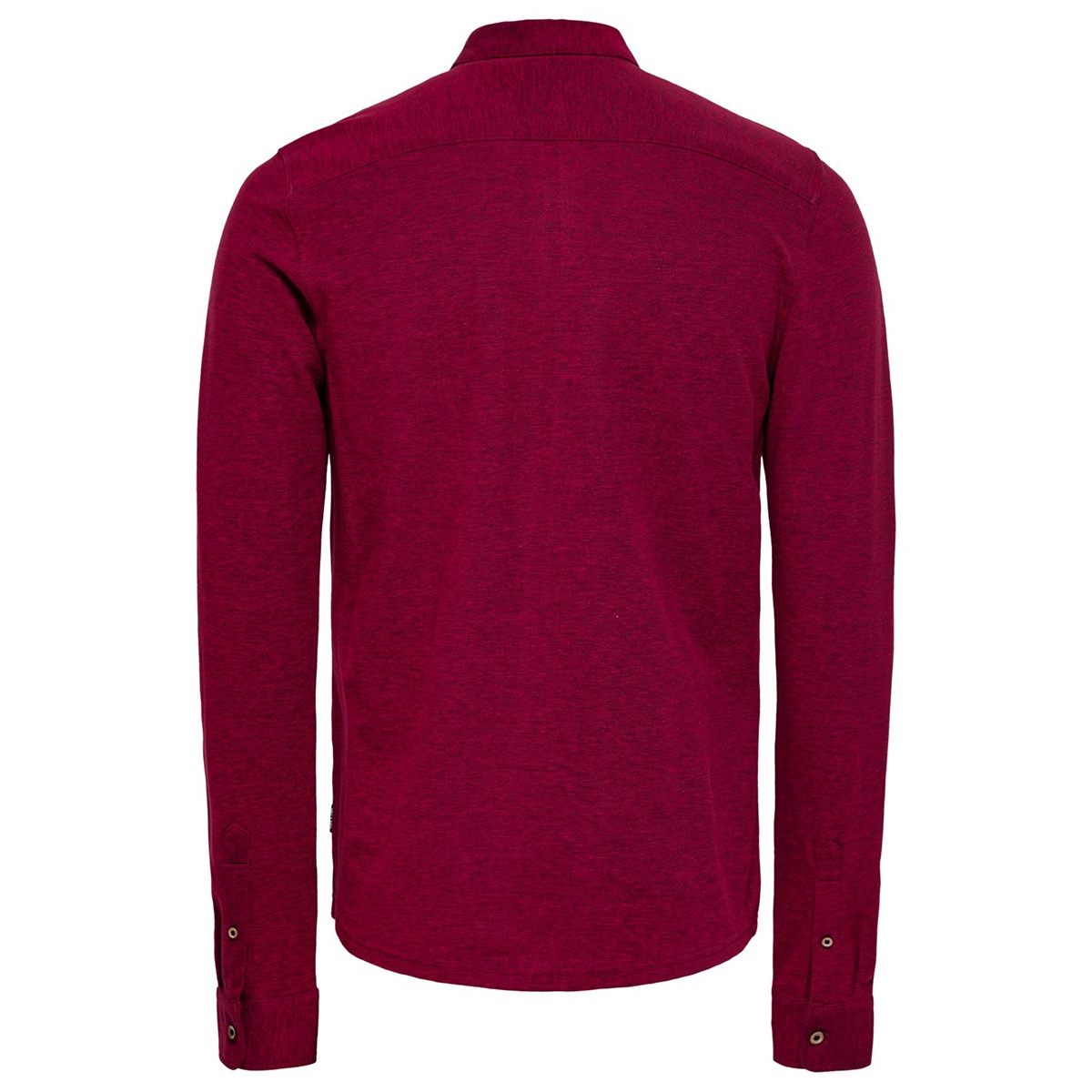 onscuton ls knitted melange shirt c 22015924 only & sons overhemd barbados cherry