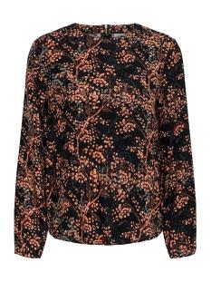 jdytrista l/s top wvn exp 15186828 jacqueline de yong blouse black/autumn leaf