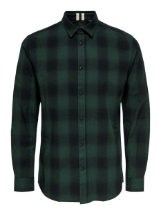 Only & Sons Overhemd onsEWAN LS SHADOW CHECK SHIRT 22014534 Darkest Spruce