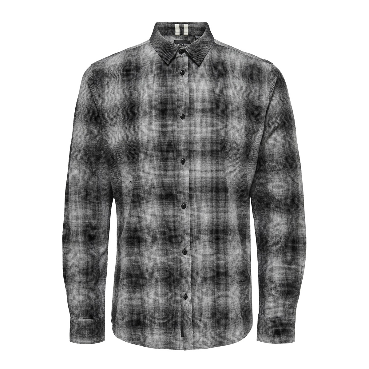 onsewan ls shadow check shirt 22014534 only & sons overhemd medium grey melange