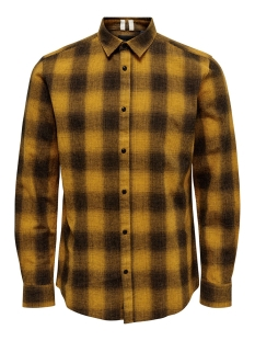 Only & Sons Overhemd onsEWAN LS SHADOW CHECK SHIRT 22014534 Dessert Sun