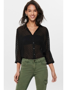 jdyoctan 3/4 loose shirt wvn 15186489 jacqueline de yong blouse black