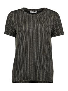 pcjolie ss top 17100020 pieces t-shirt black/gold/silve