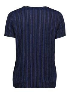 pcjolie ss top 17100020 pieces t-shirt black/blue lurex