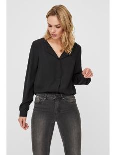 vmsine l/s shirt wvn bf 10220968 vero moda blouse black/solid
