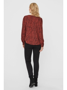 vmsine l/s shirt wvn bf 10220968 vero moda blouse madder brown/ben