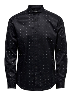 Only & Sons Overhemd onsALVES LS 2-PLY AW SIMPLE AOP SHIRT 22015030 Black