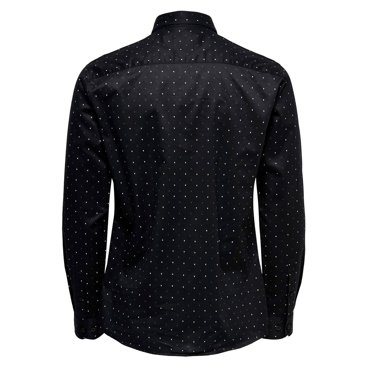 onsalves ls 2-ply aw simple aop shirt 22015030 only & sons overhemd black
